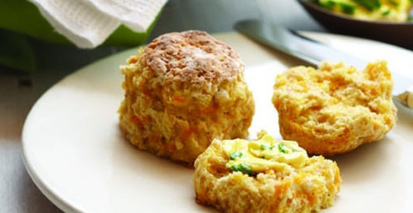 recipe image Pumpkin Scones with Chives Buttery