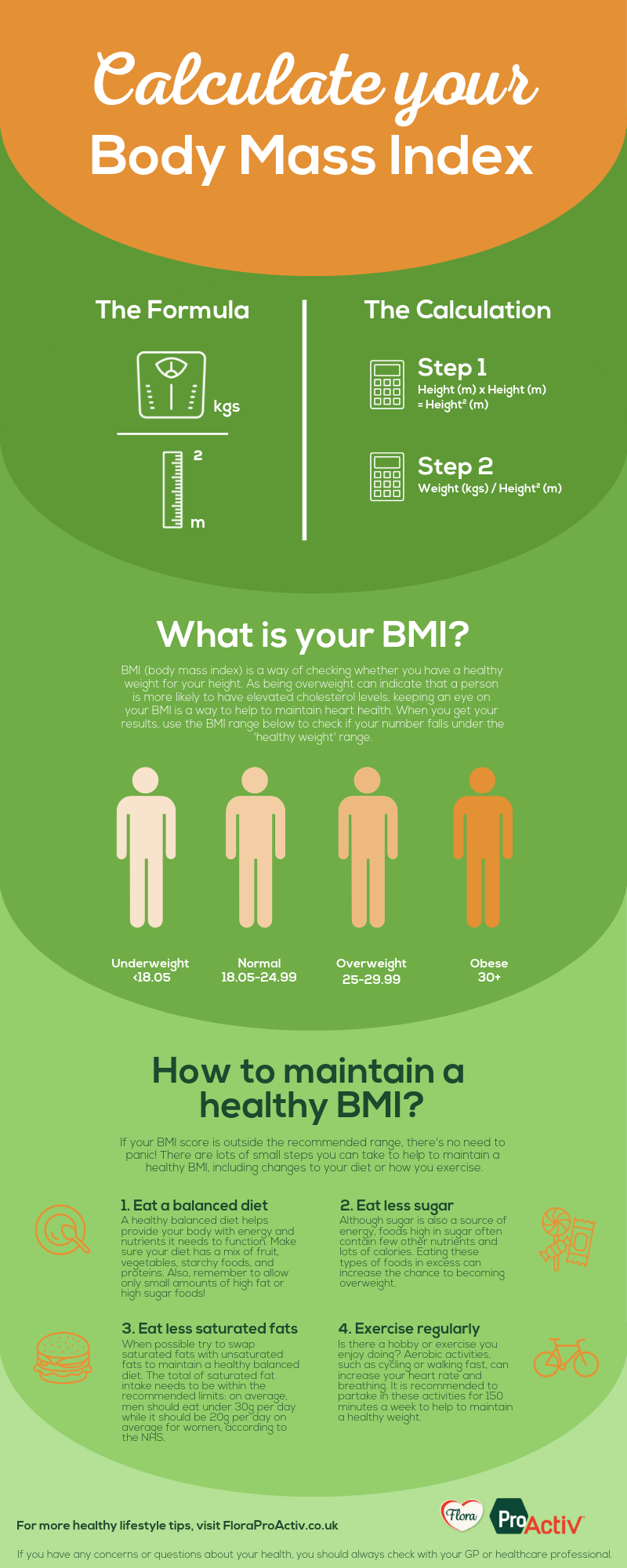 How to calculate BMI infograph