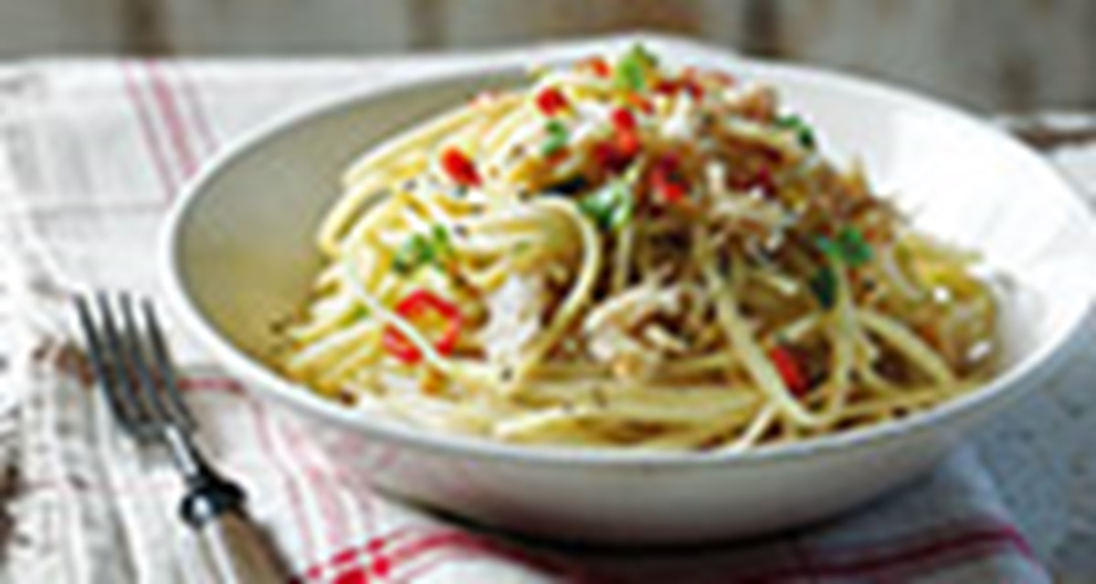 recipe image Crab Linguine
