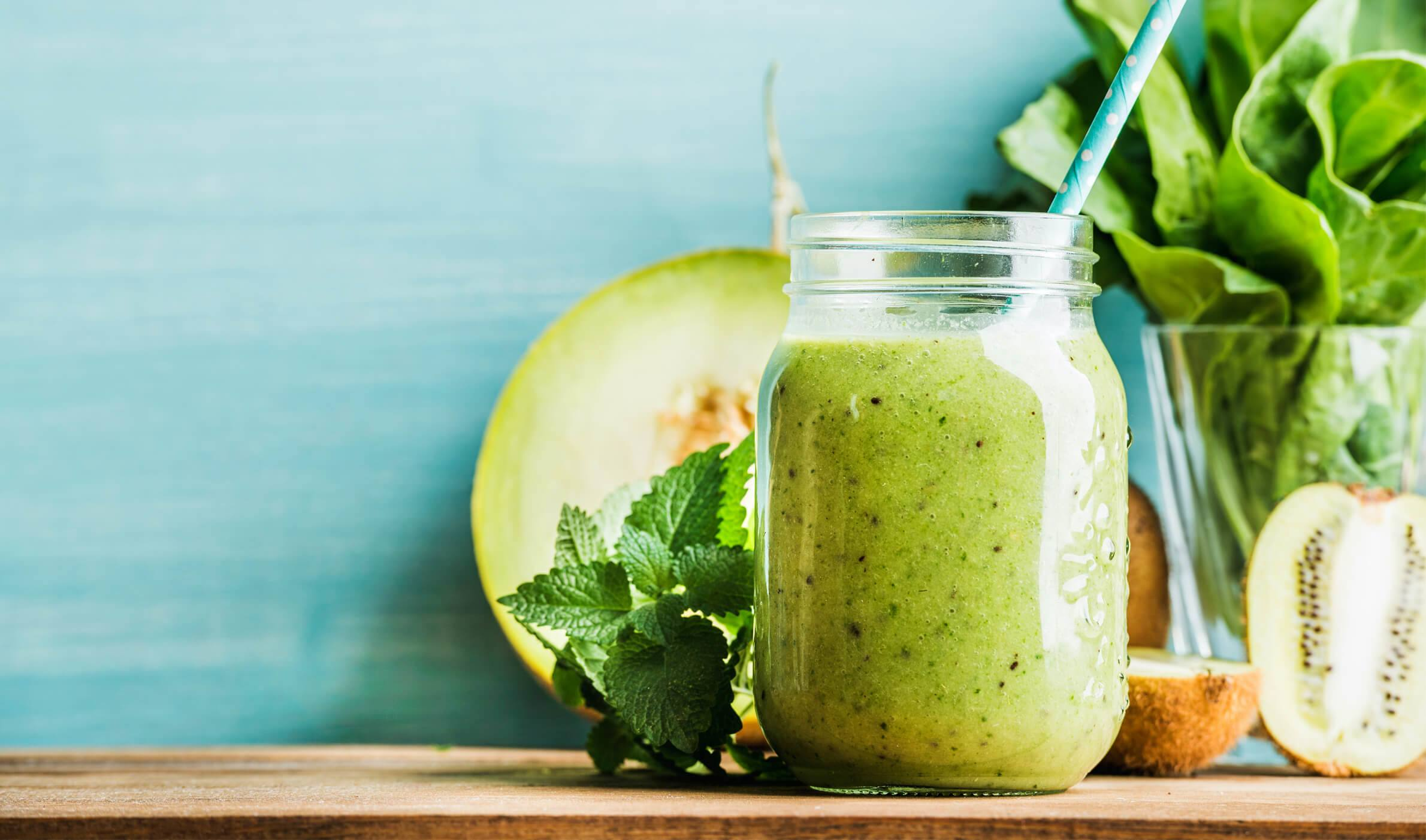 recipe image Smoothie met kiwi, spinazie en meloen